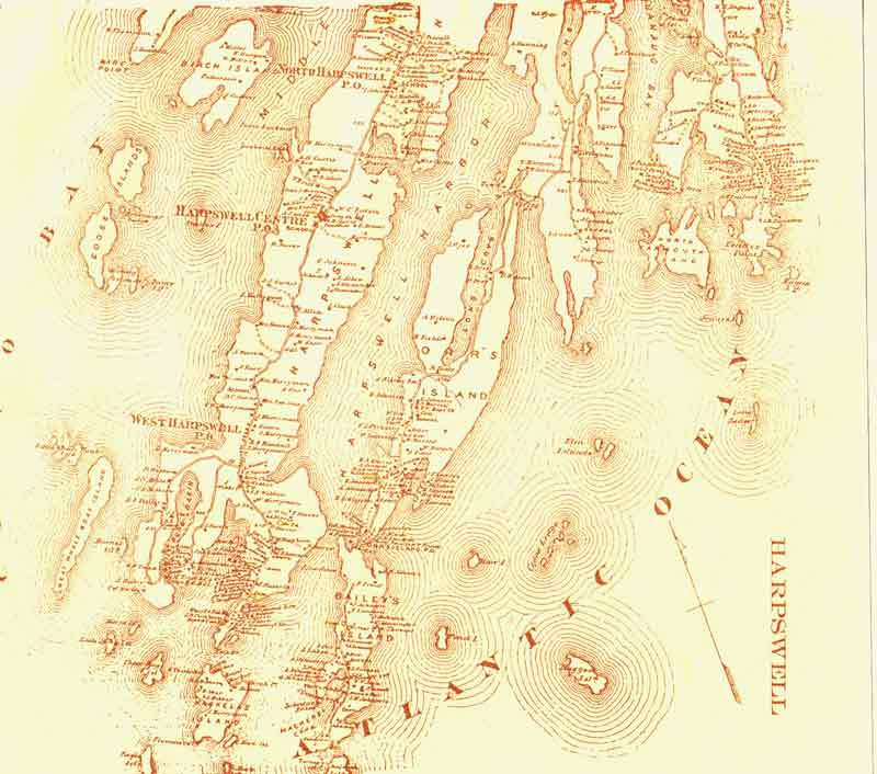 Map of Harpswell 1871
